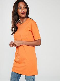 v-by-very-34-pocket-tunic-orange