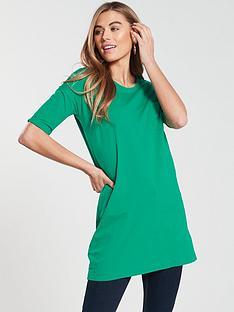 v-by-very-34-pocket-tunic-jade-green