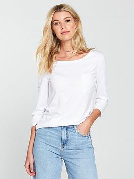 v-by-very-three-quarternbspsleeve-perfect-t-shirt-white