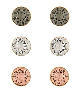 accessorize-3x-swarovskireg-stud-set-earrings