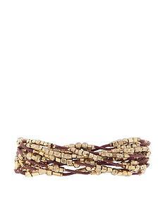 accessorize-multi-cord-bracelet-goldbrownnbsp