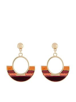 accessorize-accessorize-ribbon-inlay-short-drop-earrings