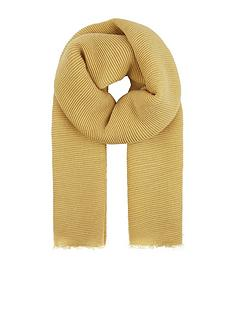 accessorize-lily-ribbed-scarf-ndash-ochre