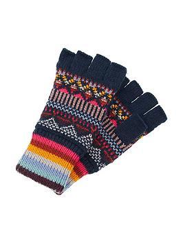 Accessorize Accessorize Harvard Fairisle Fingerless Gloves