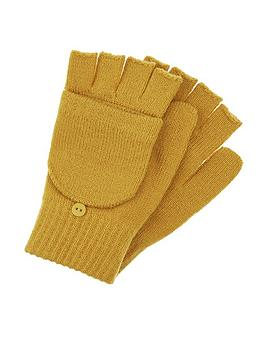 accessorize-opp-plain-capped-gloves-yellow