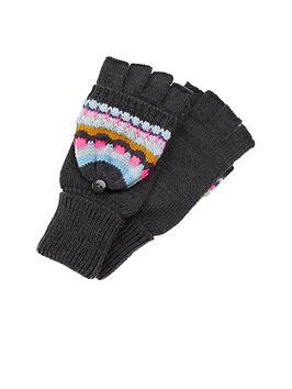Accessorize Accessorize Textured Fairisle Capped Gloves