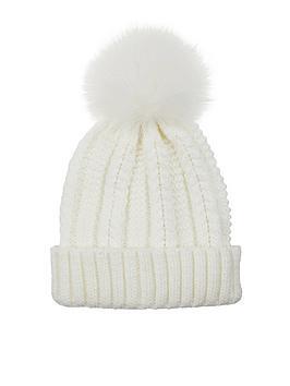 accessorize-luxe-pom-pomnbspknitted-beanie-hat-ndash-ivory