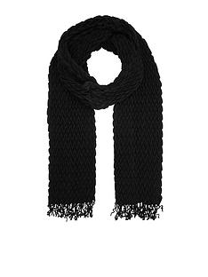 accessorize-leela-pleated-scarf-black