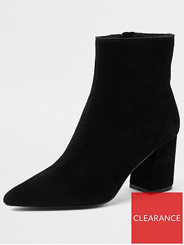 river-island-river-island-suede-heeled-ankle-boot-black