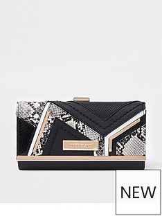 river-island-river-island-cliptop-snake-pattern-purse-black