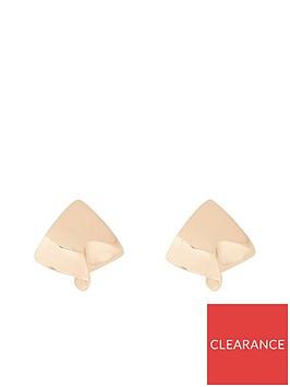 river-island-river-island-square-folded-stud-earring-gold
