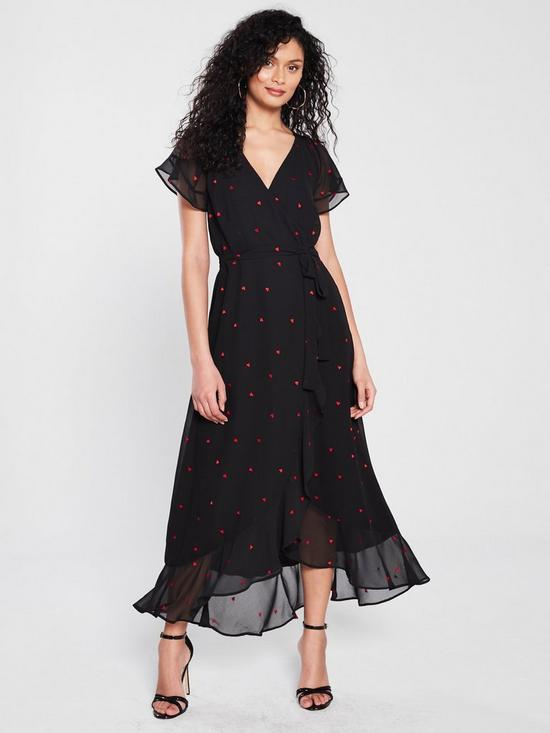 096cc0b1 WHISTLES Heart Embroidered Maxi Dress   very.co.uk