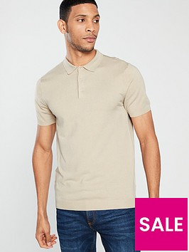 v-by-very-short-sleeved-knitted-polo-stone