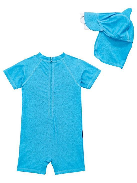 536eebf209 Mini V by Very Sun Safe Shark Boys Surf Suit - Blue | very.co.uk