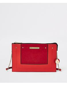 river-island-cross-body-pouchette-red