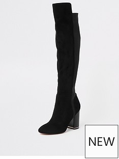river-island-river-island-contrast-heel-over-the-knee-boot-black