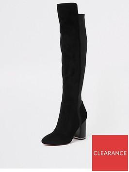 river-island-river-island-contrast-heel-over-the-knee-boot-black