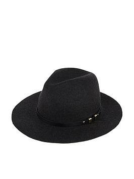 accessorize-buckle-trim-fedora-hat-ndash-black