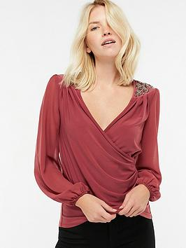 monsoon-kasia-embellished-shoulder-top-rose-pinknbsp