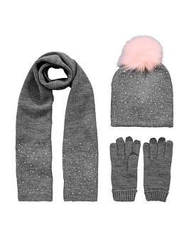 v-by-very-toddler-girls-diamante-pom-pom-hat-scarf-set