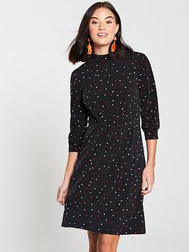warehouse-spot-print-short-dress