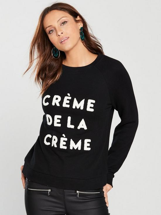 e87ba7200 WHISTLES Crème De La Crème Sweatshirt | very.co.uk