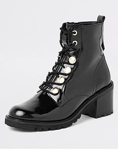 river-island-patent-lace-up-boot-black