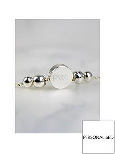 personalised-rose-goldsilver-tone-disc-bracelet