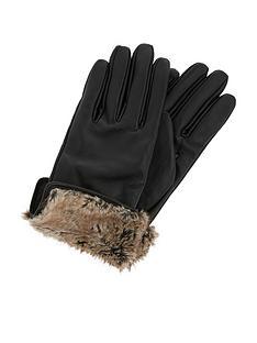 accessorize-faux-fur-trim-leather-gloves-blacknbsp