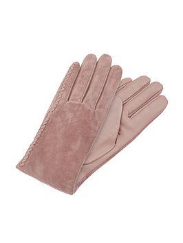 accessorize-stitch-detail-suede-gloves-pink