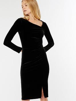 Monsoon Catriona Velvet Dress - Black