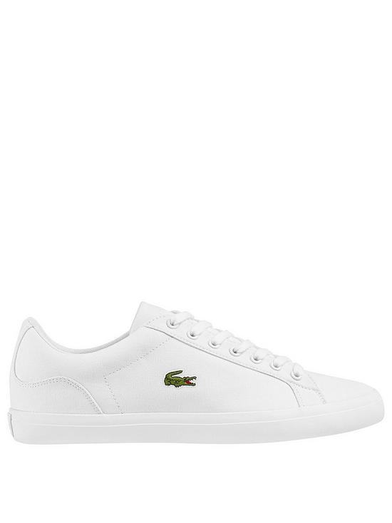 c072a69cce Lacoste Lerond Canvas Trainers - White | very.co.uk
