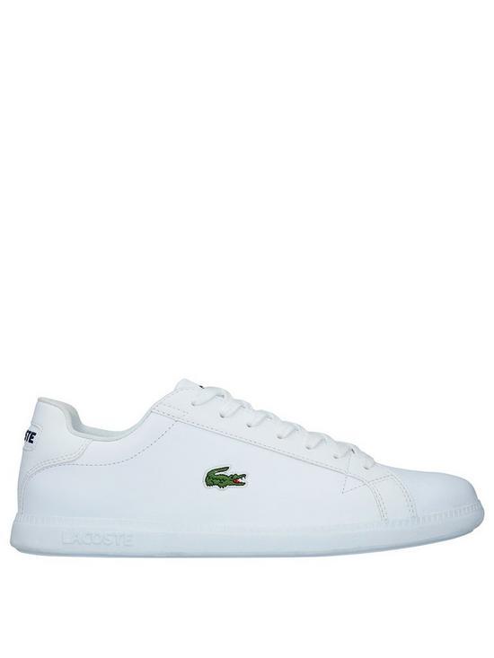 92a8dc5e3 Lacoste Graduate Trainers - White