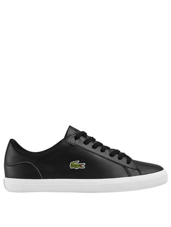 57c1ef36d5f48 Lacoste Lerond Leather Trainers - Black
