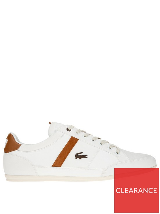 4086ca42d869 Lacoste Chaymon Leather Trainer - Off White