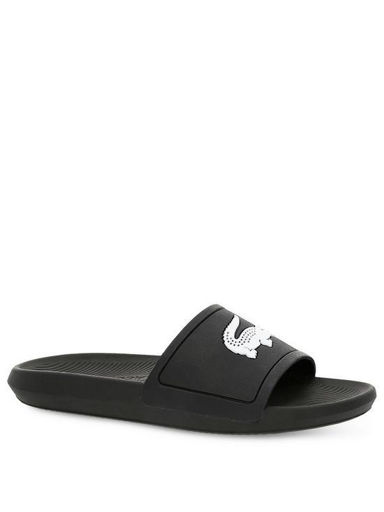 a624b163a81 Lacoste Croco Sliders - Black
