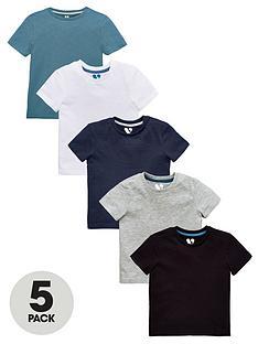 mini-v-by-very-boys-5-pack-core-short-sleeve-t-shirts-multi