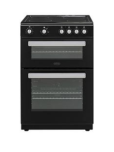 belling-fse608d-60cmnbspwide-double-oven-electric-cookernbspwith-optional-connection-black