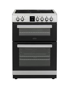 belling-fse608dpc-60cmnbspwide-double-oven-electric-cooker-with-optional-connection-stainless-steel