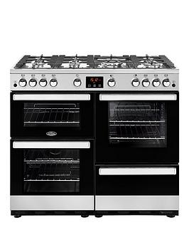 Belling 100G Belling Cookcentre 100Cm Gas Range Cooker - Stainless Steel - Rangecooker Only