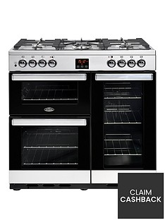 belling-90dft-cookcentre-90cm-dual-fuel-range-cooker-with-optional-connection-stainless-steel