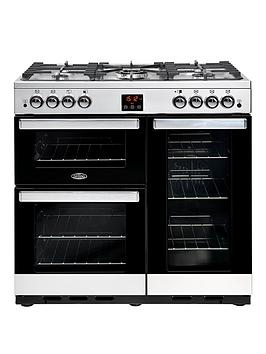 Belling 90G Cookcentre 90Cm Gas Range Cooker - Rangecooker With Connection Best Price, Cheapest Prices