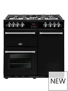 belling-90gt-farmhouse-90cm-gas-range-cooker-with-optional-connection-black