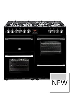 belling-100df-farmhouse-100cm-dual-fuel-range-cooker-with-optional-connection--nbspblacknbsp