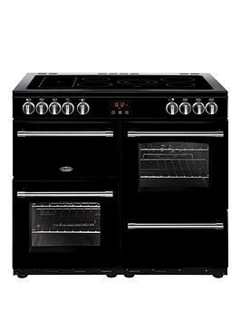belling-100e-farmhouse-100cm-electric-range-cooker-with-optional-connection-black