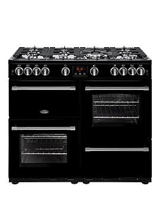 belling-100g-farmhouse-100cm-gas-range-cooker-with-optional-connection-black