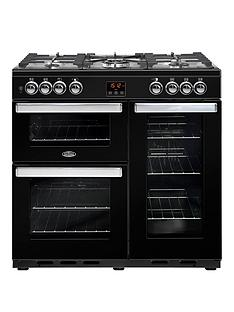 belling-90dft-cookcentre-90cm-dual-fuel-range-cooker-with-optional-connection-black