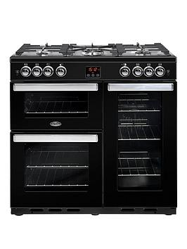 belling-90g-cookcentre-90cm-gas-range-cooker-with-optional-connection--nbspblack