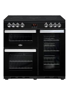 belling-90e-cookcentre-90cm-electric-range-cooker-black-with-optional-connection