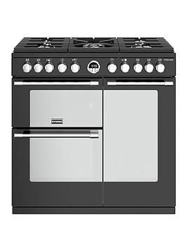 stoves-sterling-s900df-90cm-wide-dual-fuel-range-cooker-with-optional-connection-black